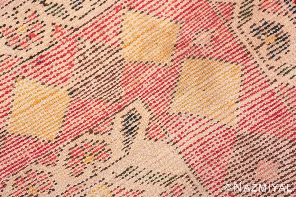 Weave detail Diamond design Vintage Tribal Persian Shabby Chic Gabbeh rug 48963 by Nazmiyal