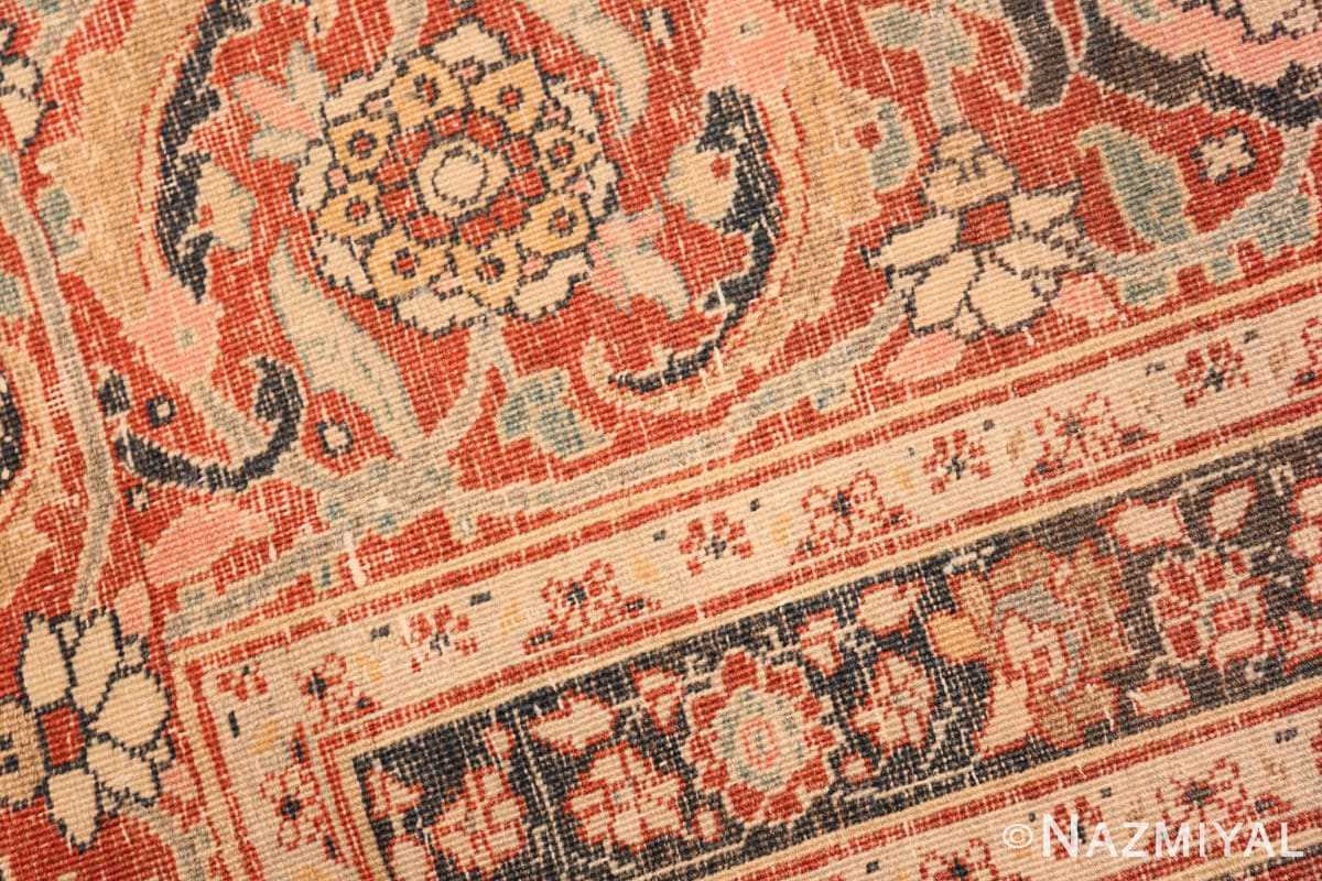 Weave detail Antique Persian Tabriz Central medallion rug 50663 by Nazmiyal
