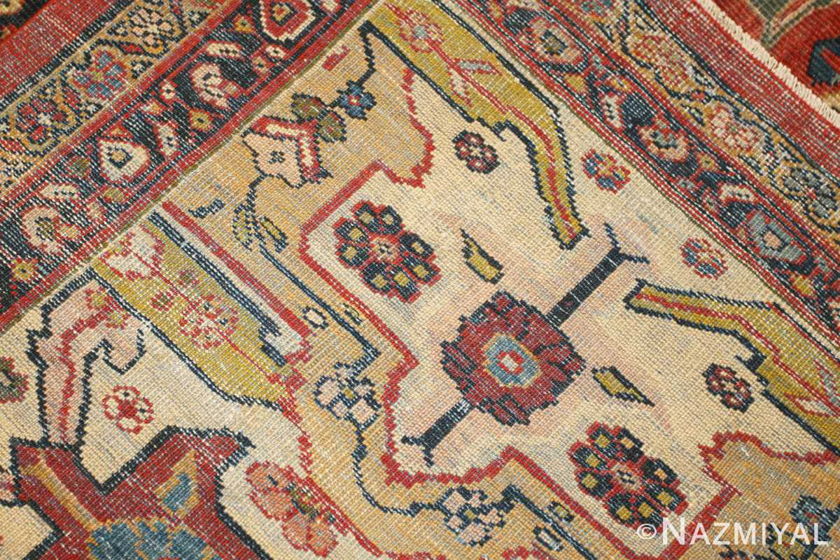 Weave detail Oversized Antique Persian Sultanabad rug 47700 by Nazmiyal