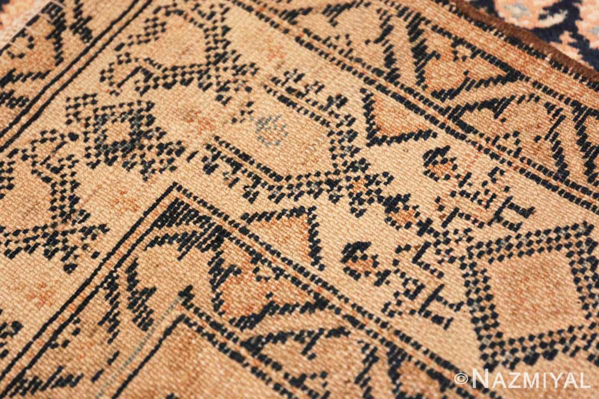 Weave detail Tribal Paisley design Antique Persian Malayer runner rug 50671 by Nazmiyal