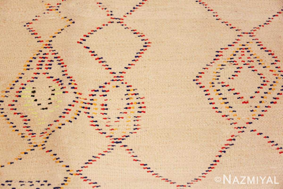 Weave detail Vintage Shaggy Moroccan Azilal rug 48948 by Nazmiyal