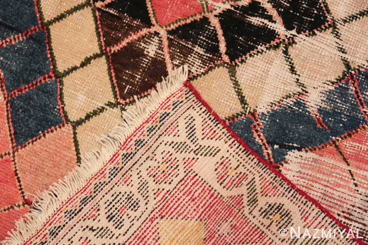 Weave Diamond design Vintage Tribal Persian Shabby Chic Gabbeh rug 48963 by Nazmiyal