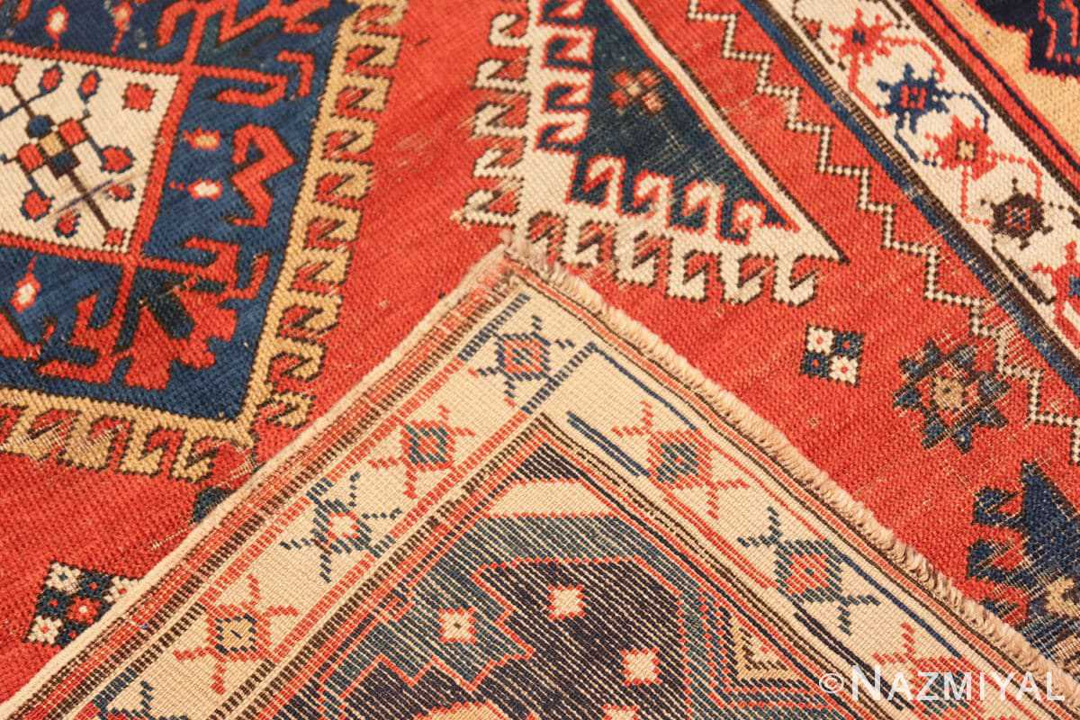 Weave Shabby chic tribal antique Caucasian Kazak rug 48827 by Nazmiyal