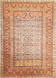 Antique Silk Persian Farahan Rug 40995 Nazmiyal