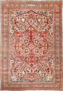 Fine Large Silk and Wool Persian Kerman Antique Rug 48957 Nazmiyal