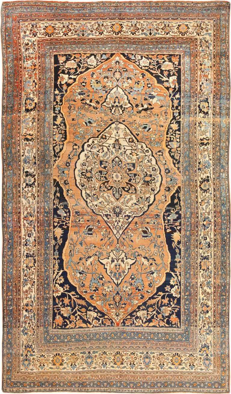 Fine Room Size Persian Tabriz Antique Rug 50547 Nazmiyal