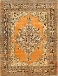 Fine Small Scatter Size Antique Persian Tabriz Rug 50693 Nazmiyal