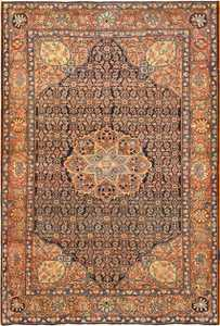 Small Scatter Size Antique Persian Sarouk Farahan Rug 50686 Nazmiyal