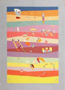 Vintage Deco French Bauhaus Rug By Wassily Kandinsky 41278 Nazmiyal