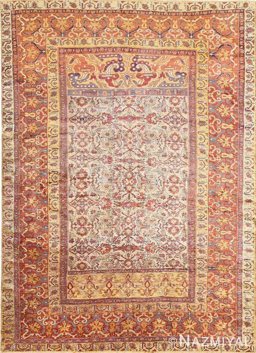 Antique Silk Persian Farahan Rug 40995 Nazmiyal