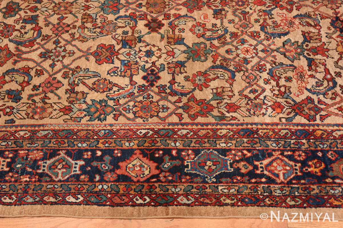 Border Camel background Persian Sultanabad Antique rug 50660 by Nazmiyal
