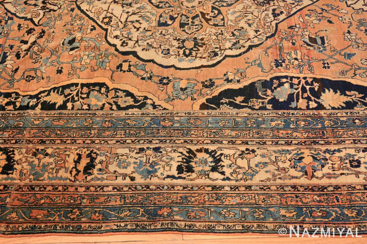 Border Antique Room size Persian Tabriz rug 50547 by Nazmiyal