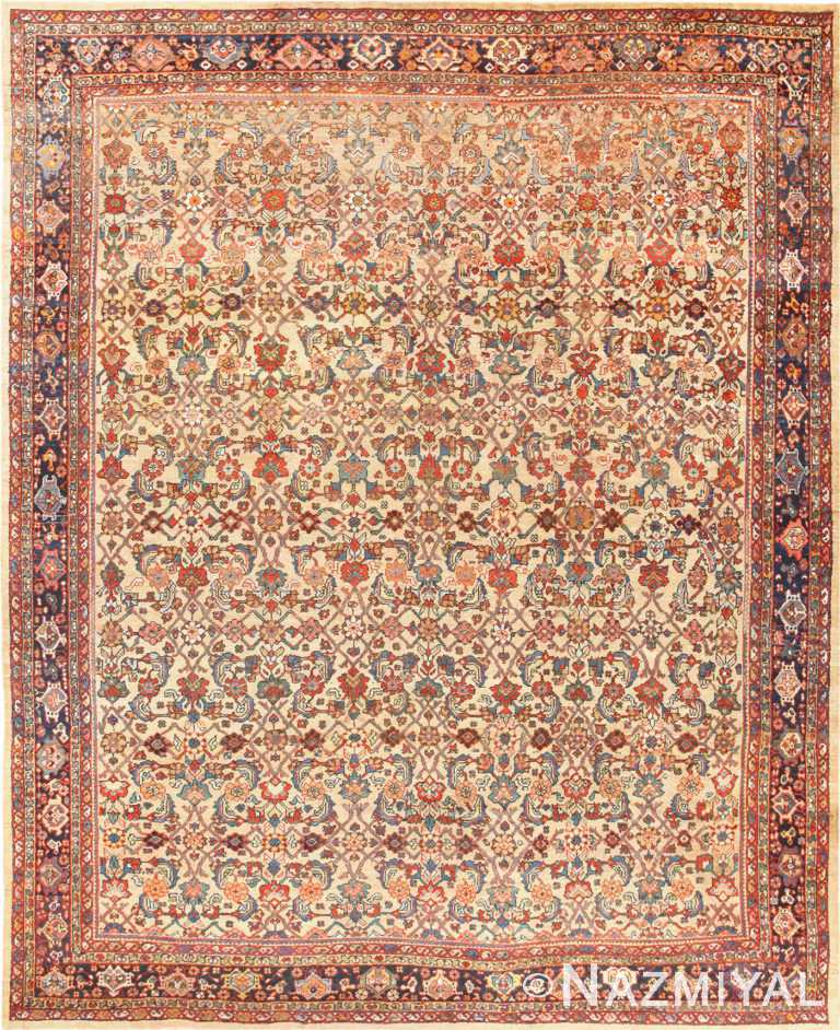 Camel Background Persian Sultanabad Antique Rug 50660 Nazmiyal