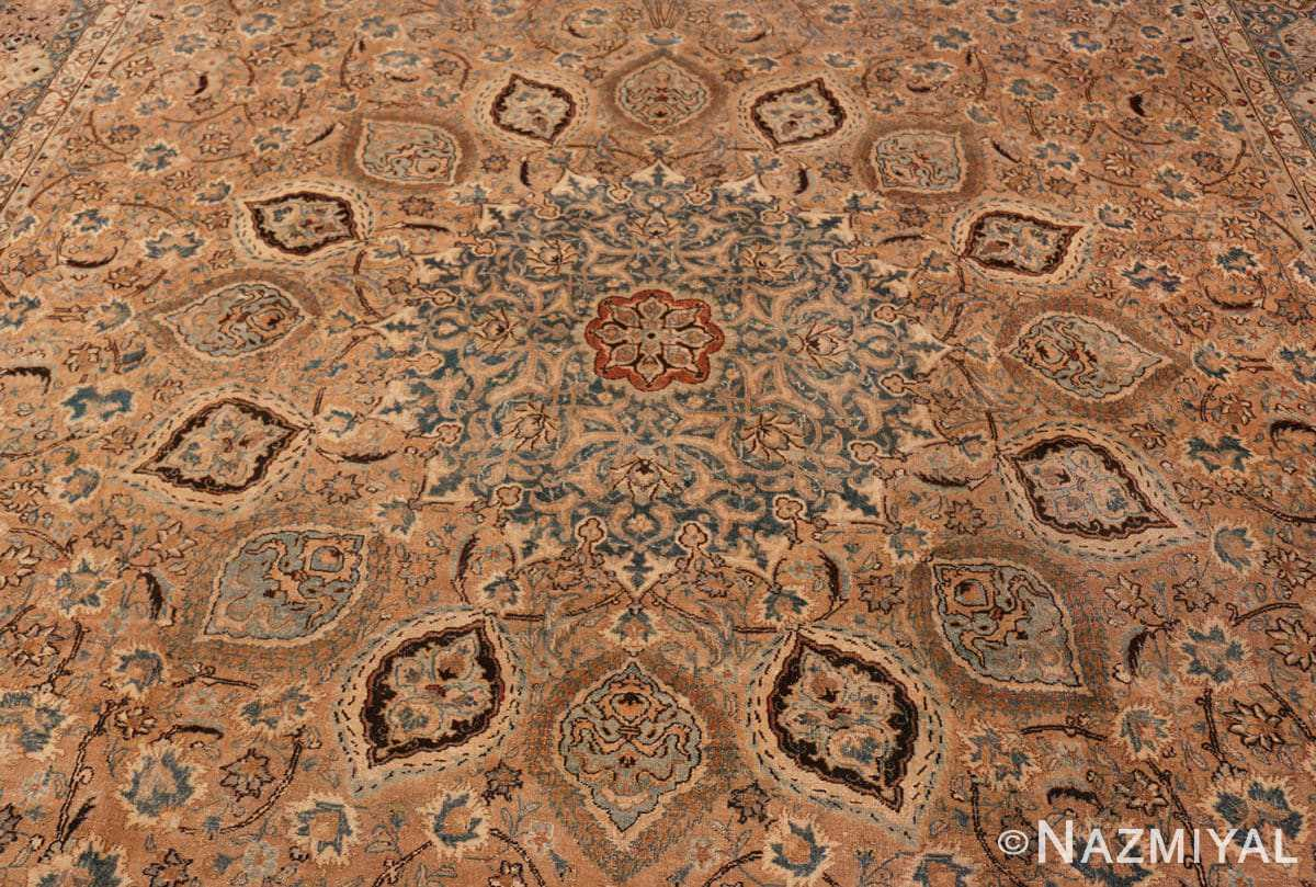 center detail Decorative Persian Khorassan Antique rug 48774 by Nazmiyal