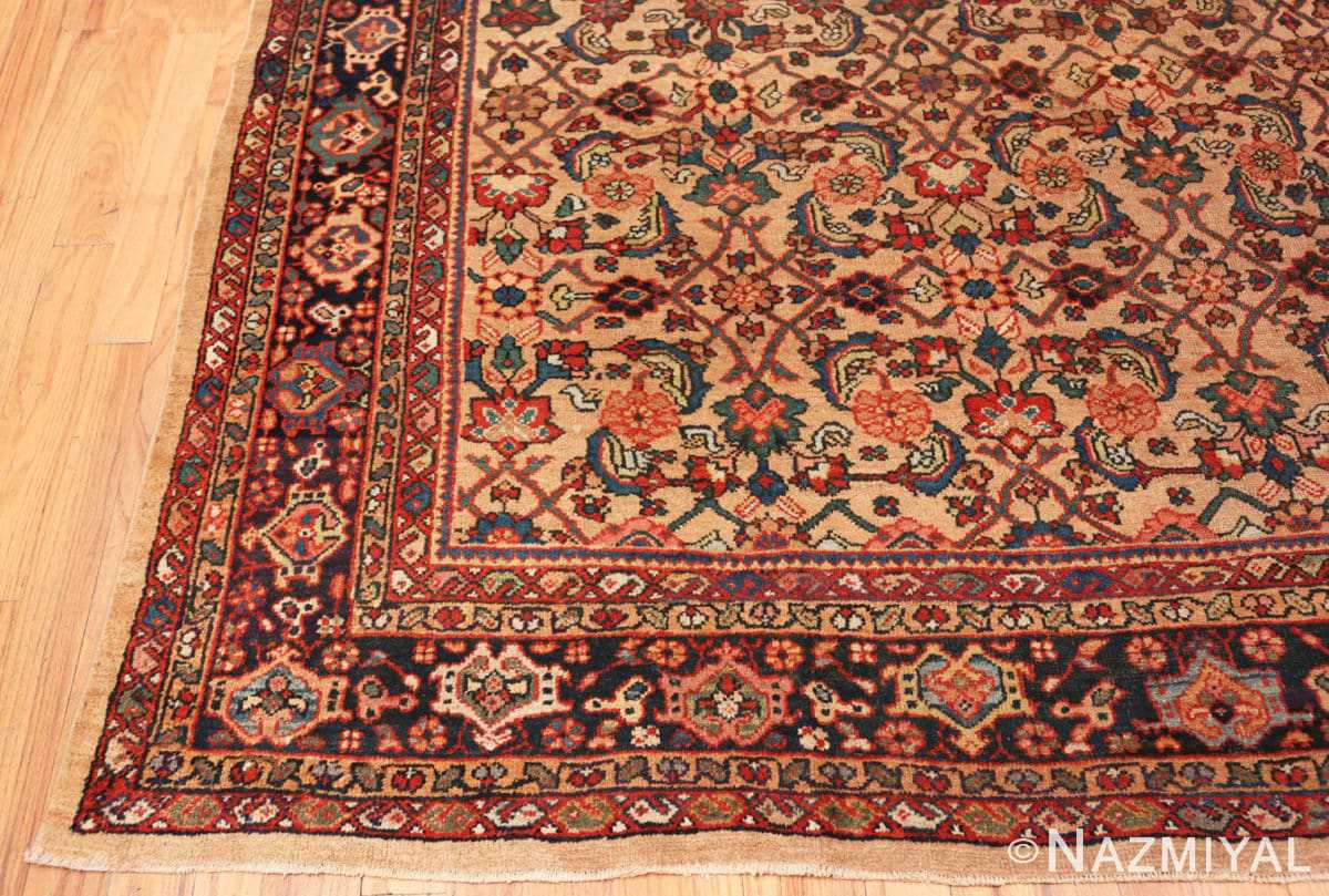 Corner Camel background Persian Sultanabad Antique rug 50660 by Nazmiyal