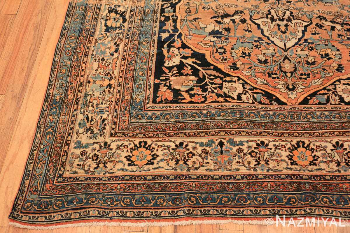 Corner Antique Room size Persian Tabriz rug 50547 by Nazmiyal