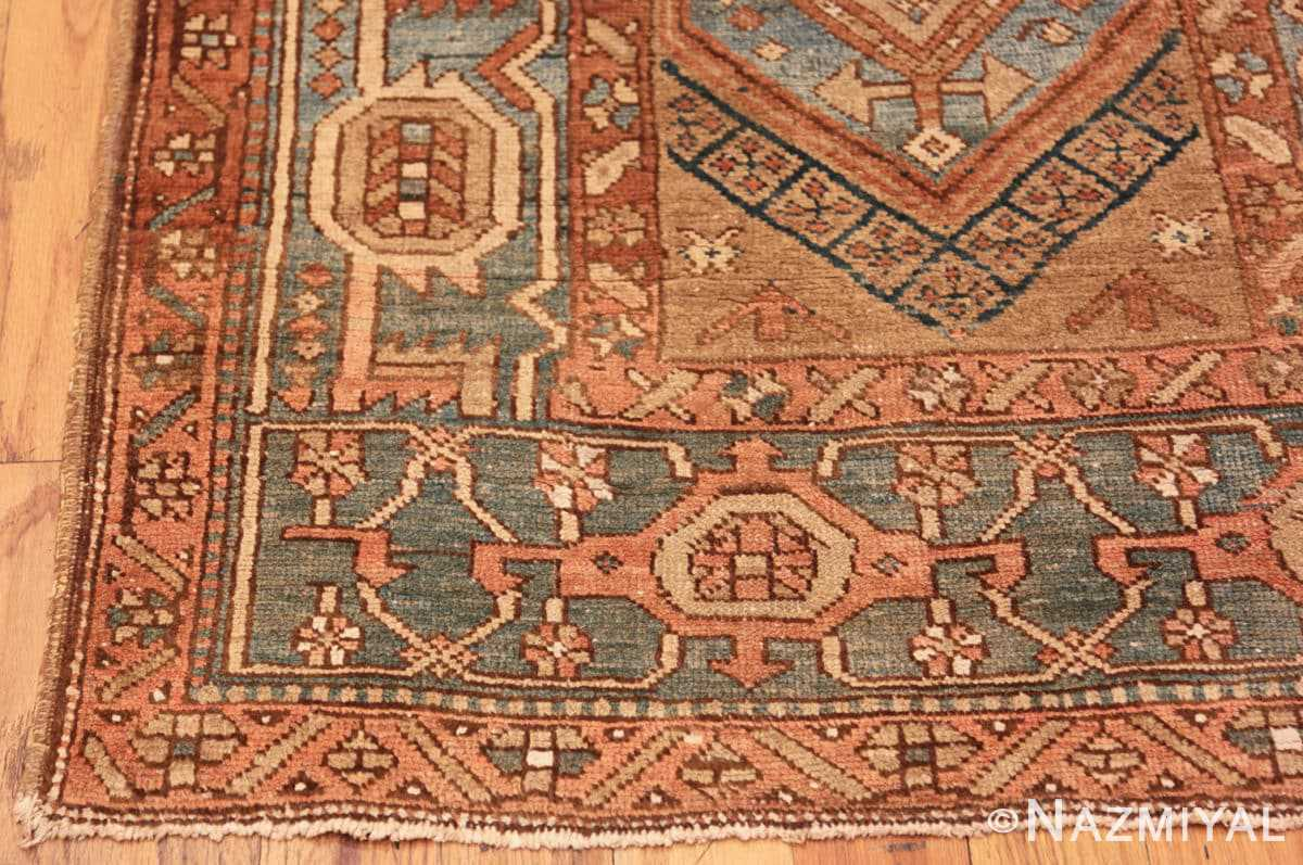 Corner Tribal Antique Persian Heriz Serapi runner rug 48994 by Nazmiyal