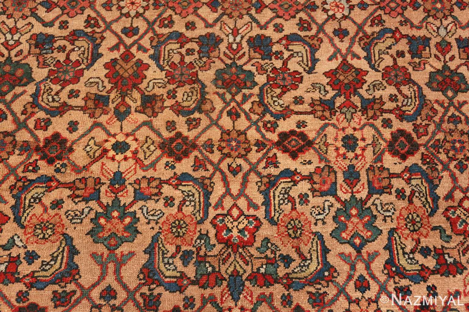 Camel Background Persian Sultanabad Antique Rug 50660 Nazmiyal