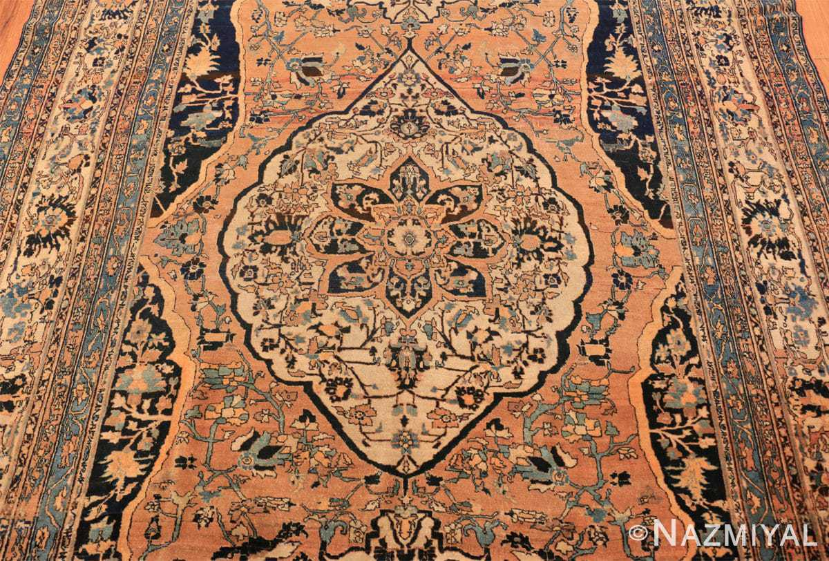 Field Antique Room size Persian Tabriz rug 50547 by Nazmiyal