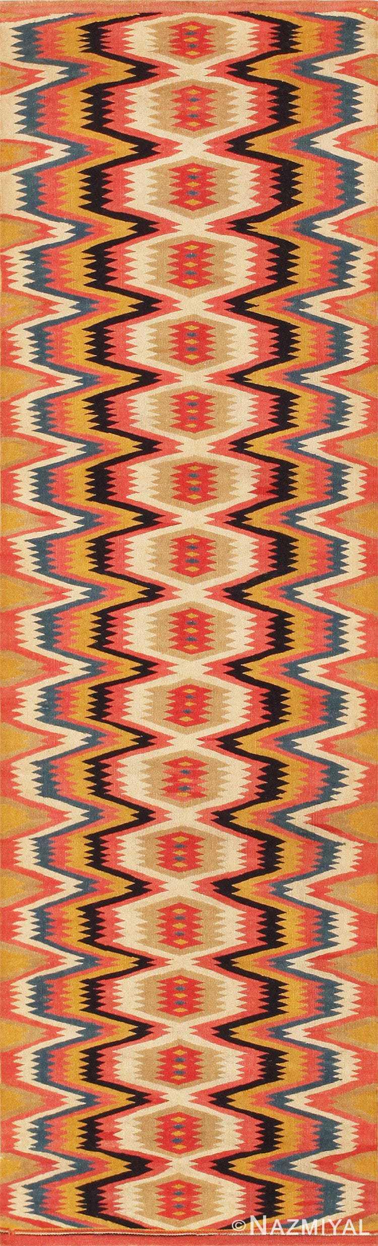 Fine and Beautiful Vintage Swedish Kilim Rug 45785 Nazmiyal