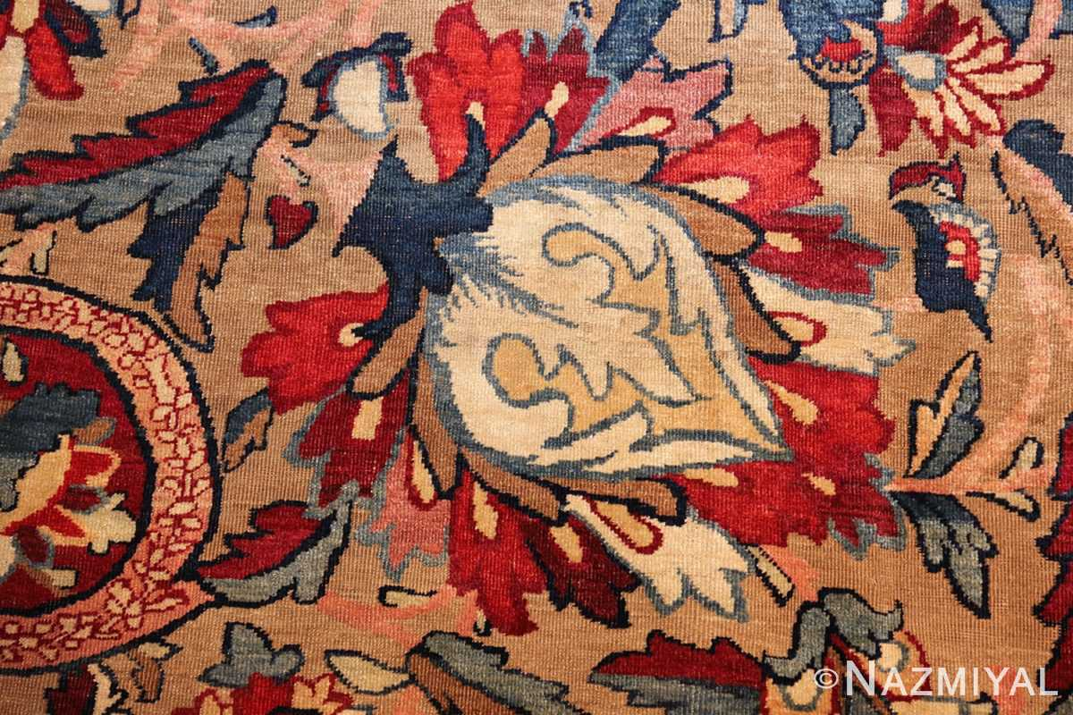 fine large silk and wool persian kerman lavar antique rug 48957 bud Nazmiyal