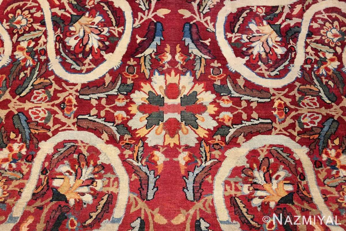 fine large silk and wool persian kerman lavar antique rug 48957 center Nazmiyal