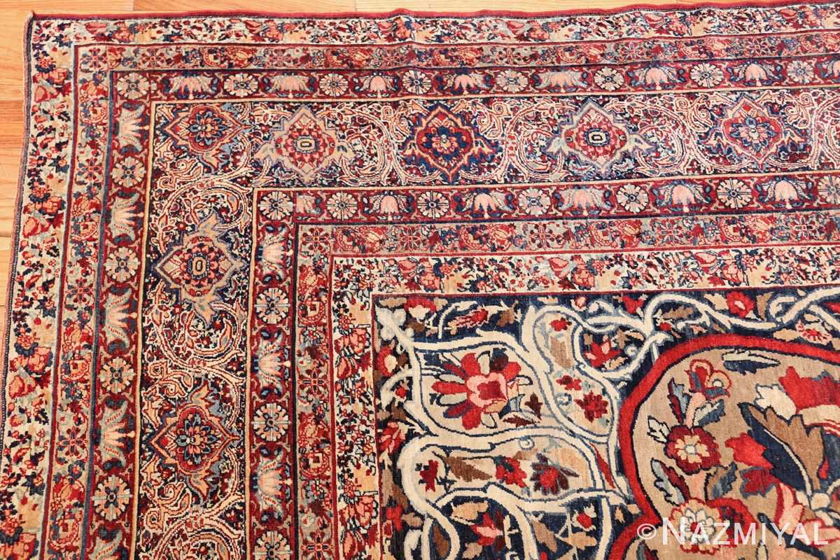 fine large silk and wool persian kerman lavar antique rug 48957 corner Nazmiyal