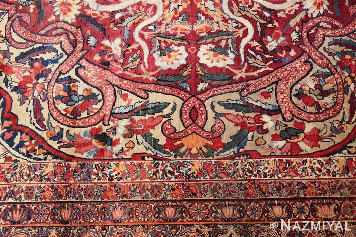 fine large silk and wool persian kerman lavar antique rug 48957 design Nazmiyal
