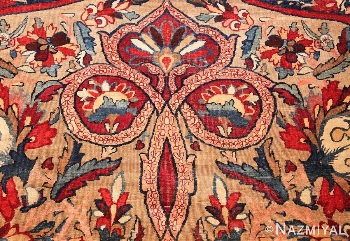fine large silk and wool persian kerman lavar antique rug 48957 tiara Nazmiyal