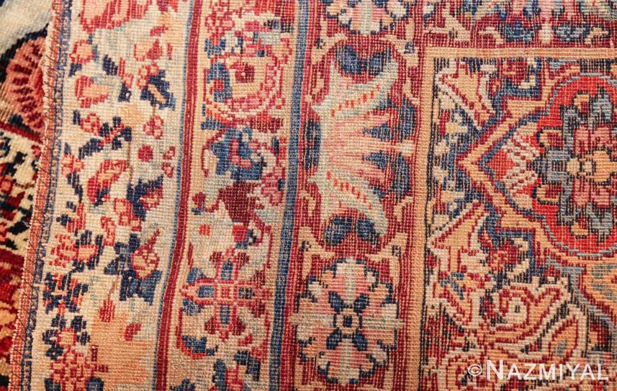 fine large silk and wool persian kerman lavar antique rug 48957 weave Nazmiyal