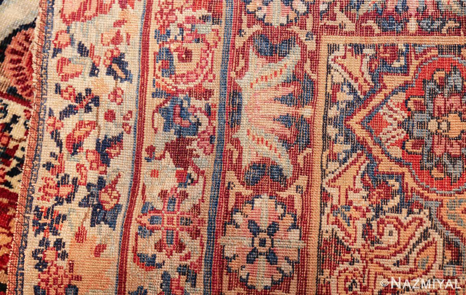 fine large silk and wool persian kerman lavar antique rug 48957 weave Nazmiyal