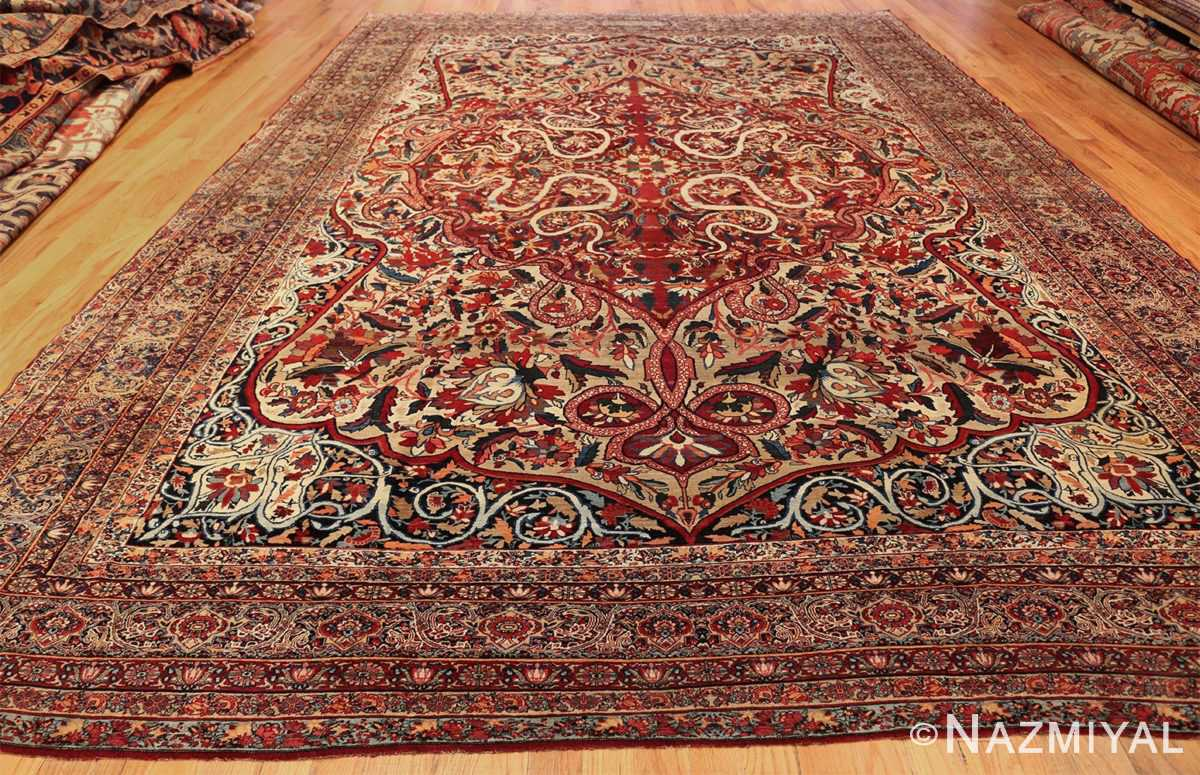 fine large silk and wool persian kerman lavar antique rug 48957 whole Nazmiyal