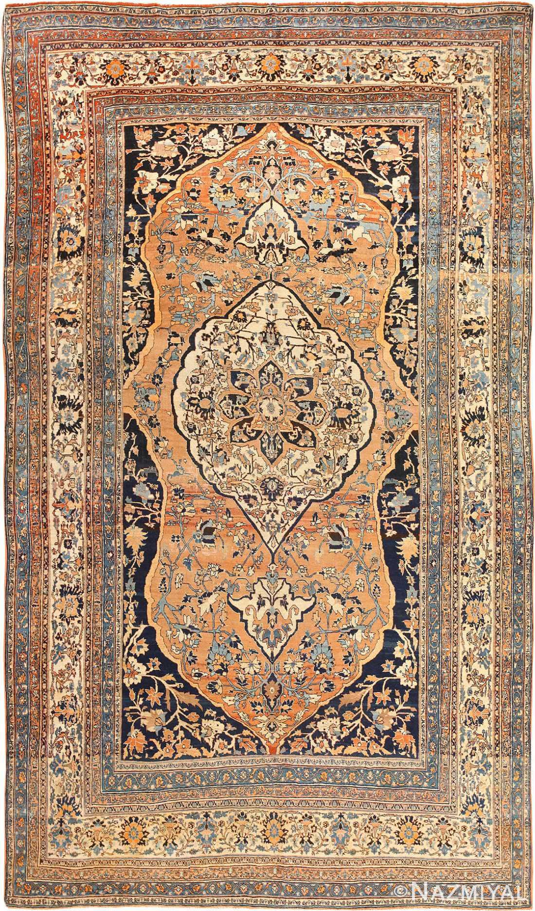 Fine Room Size Persian Tabriz Antique Rug 50547 Nazmiyal