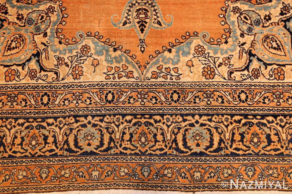 fine mall scatter size antique persian tabriz rug 50693 border Nazmiyal