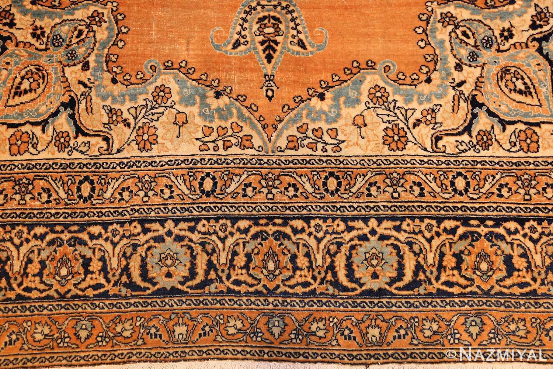 fine mall scatter size antique persian tabriz rug 50693 border Nazmiyal