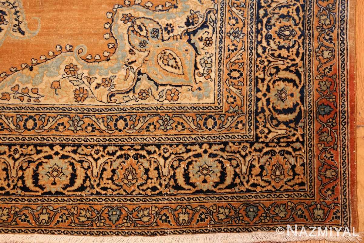 fine small scatter size antique persian tabriz rug 50693 corner Nazmiyal