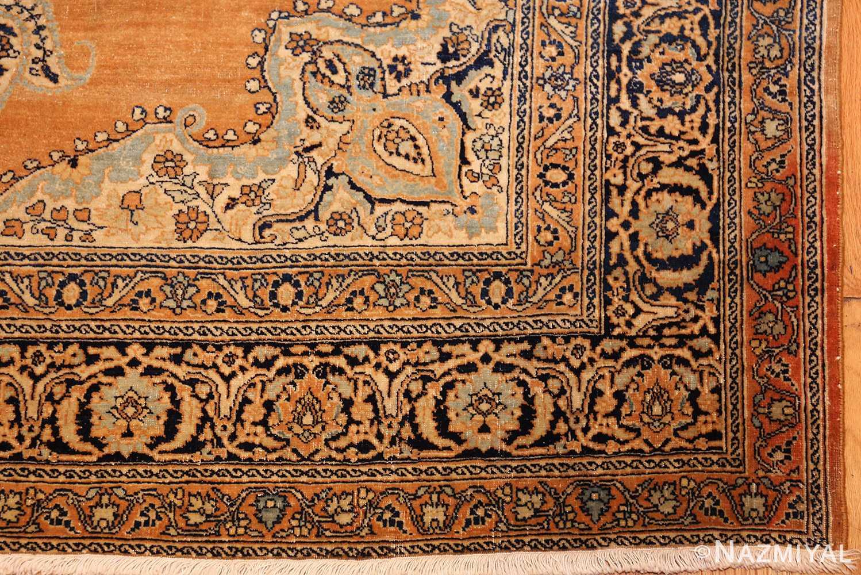 fine small scatter size antique persian tabriz rug 50693 corner Nazmiyal