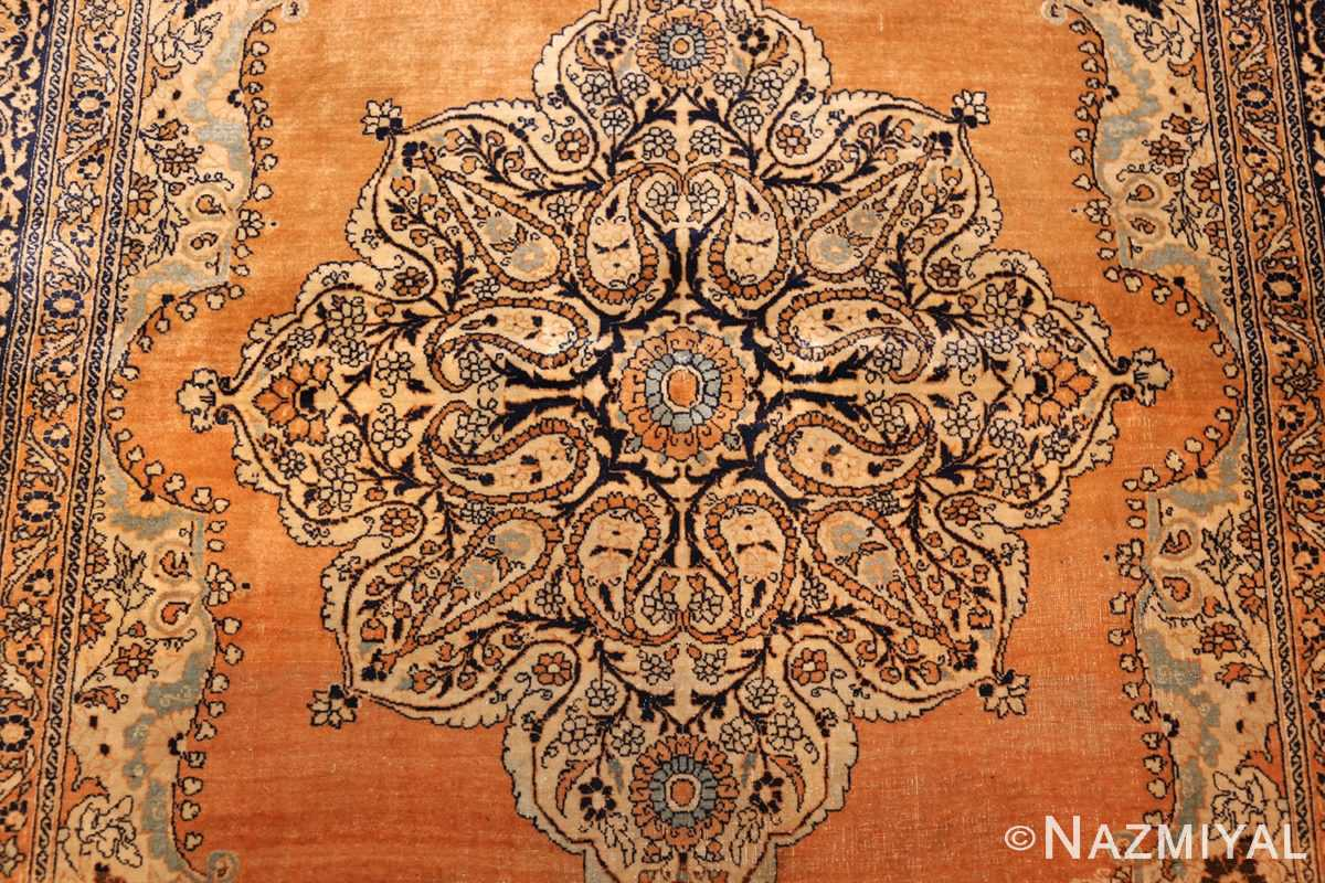 fine small scatter size antique persian tabriz rug 50693 medallion Nazmiyal