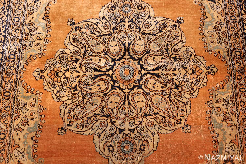 fine small scatter size antique persian tabriz rug 50693 medallion Nazmiyal