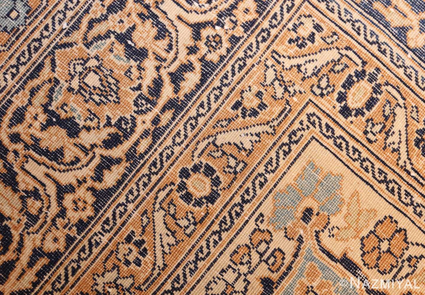 fine small scatter size antique persian tabriz rug 50693 weave Nazmiyal