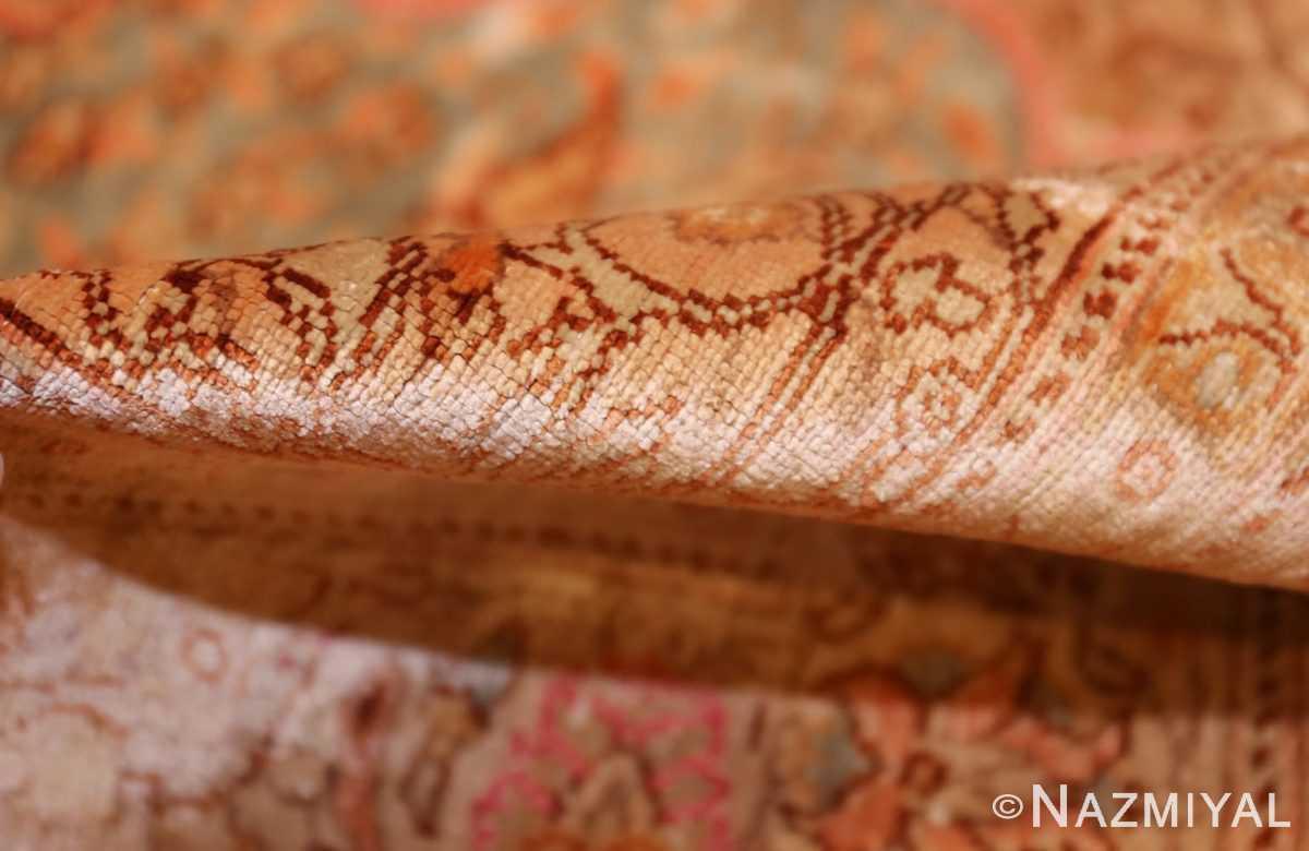fine small size vintage silk turkish hereke prayer rug 50703 pile Nazmiyal