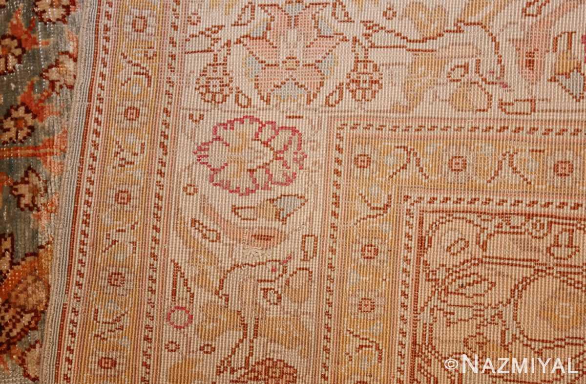 fine small size vintage silk turkish hereke prayer rug 50703 weave Nazmiyal