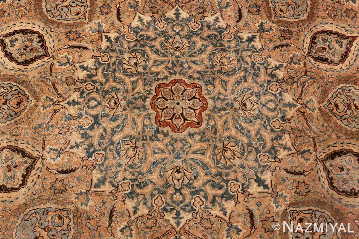 flower detail Decorative Persian Khorassan Antique rug 48774 by Nazmiyal