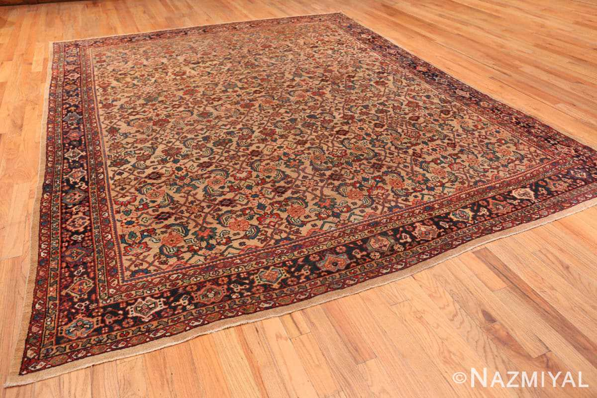 Full Camel background Persian Sultanabad Antique rug 50660 by Nazmiyal