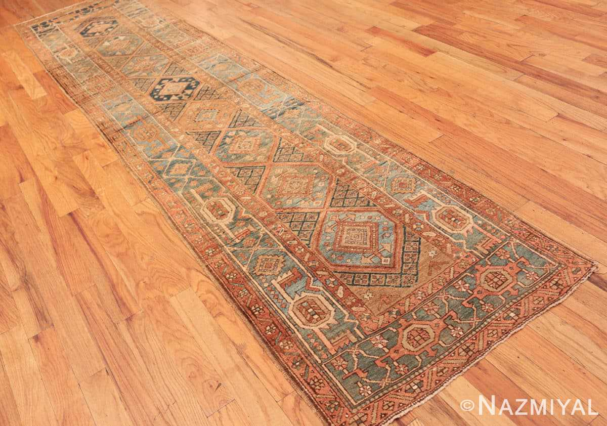 Full Tribal Antique Persian Heriz Serapi runner rug 48994 by Nazmiyal