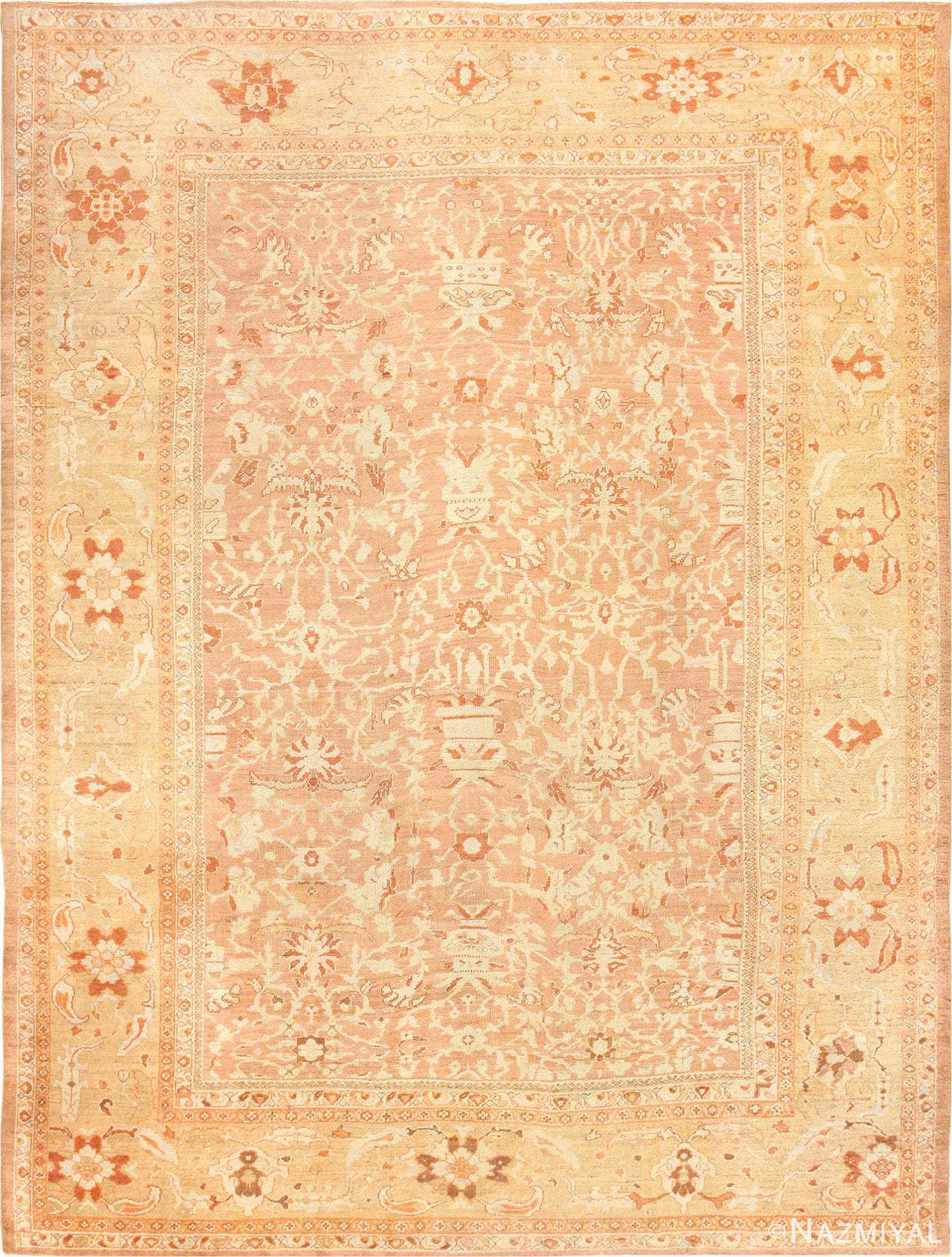 Large Decorative Antique Persian Ziegler Sultanabad Rug 48762 Nazmiyal