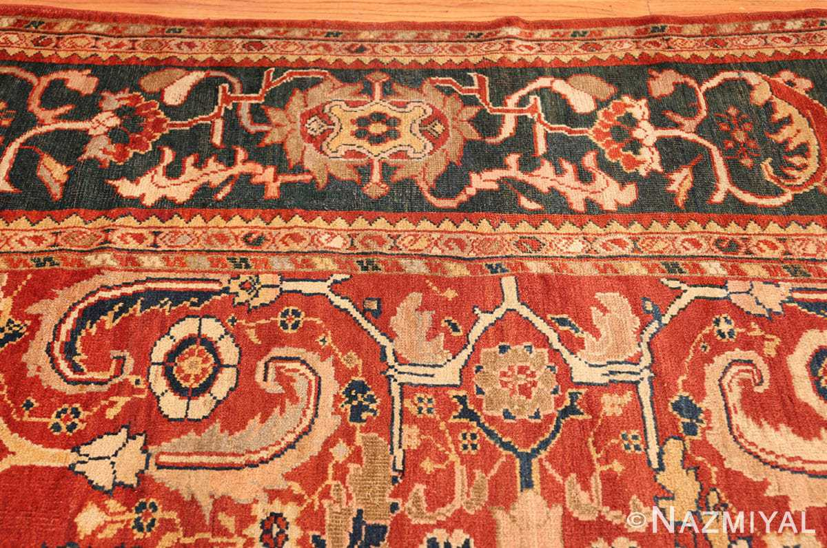 large scale all over design persian sultanabad antique rug 50708 border Nazmiyal