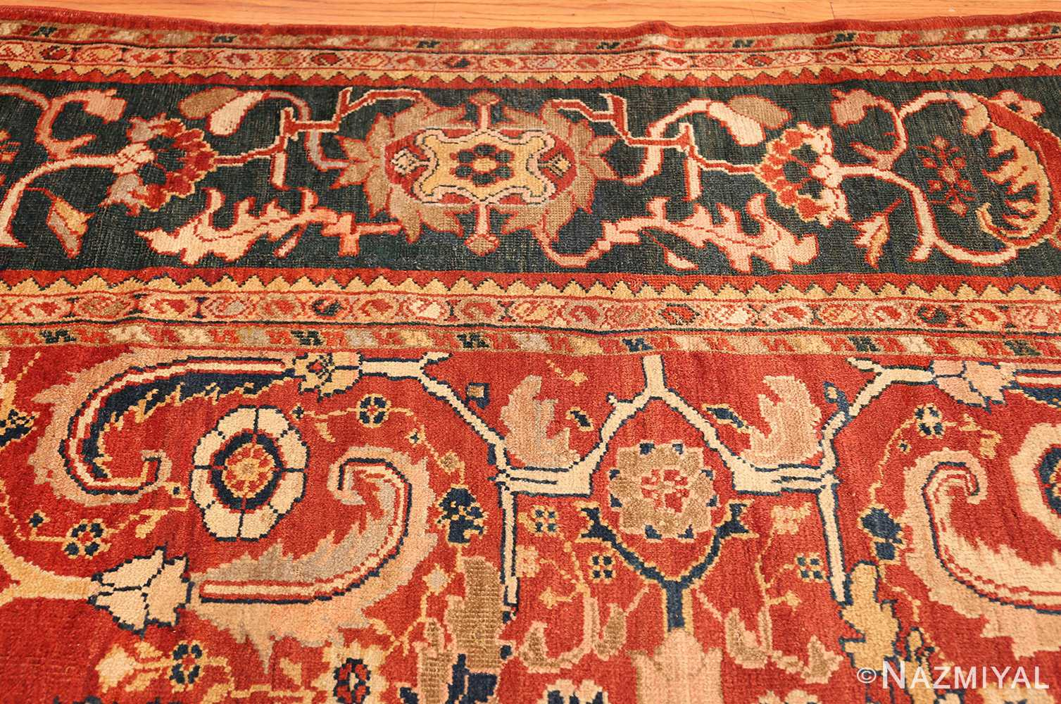 All Over Design Persian Sultanabad Antique Rug 50708 Nazmiyal