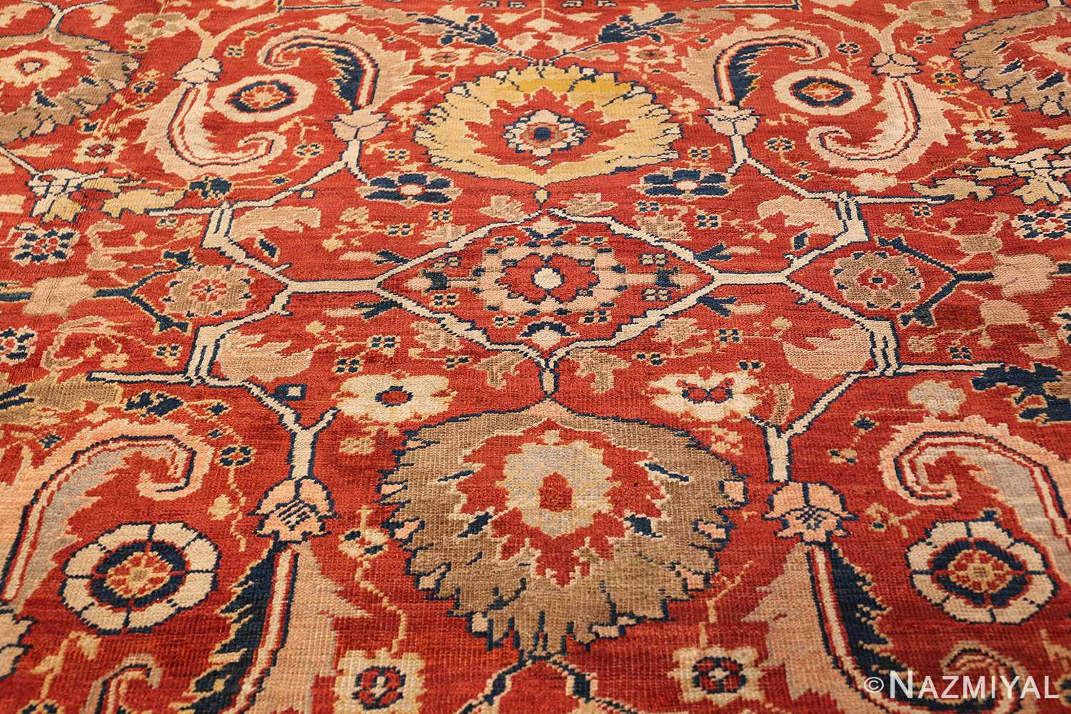 large scale all over design persian sultanabad antique rug 50708 center Nazmiyal