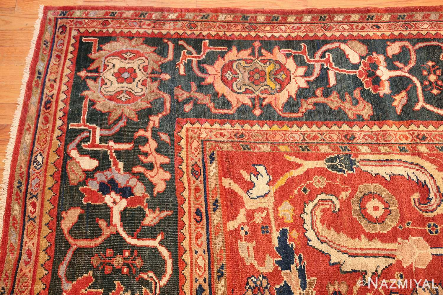 large scale all over design persian sultanabad antique rug 50708 corner Nazmiyal
